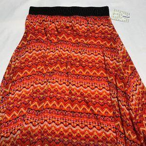 LuLaRoe Size L Orange Geo Print Lola Skirt
